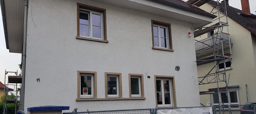 Fassade vor dem Verputzen